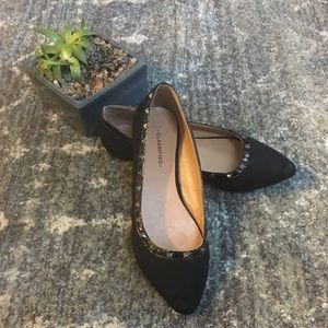 City Classified Black Studded Flats size 8